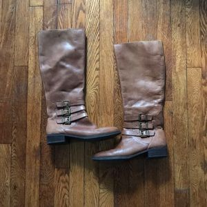 INC International Concepts leather riding boots
